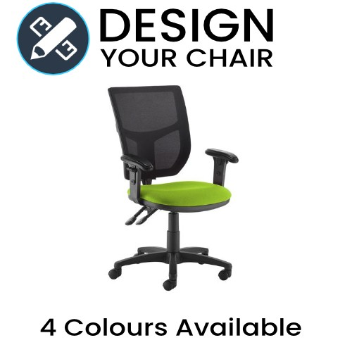 Design Your Altino Operator Chair with Mesh Black Back and Coloured Seat