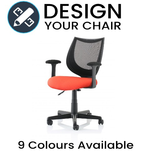 Design Your Camden Operator Chair with Mesh Back and Coloured Seat