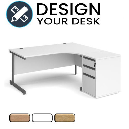 Design Your Economy Radial Desk with Cantilever Leg Frame