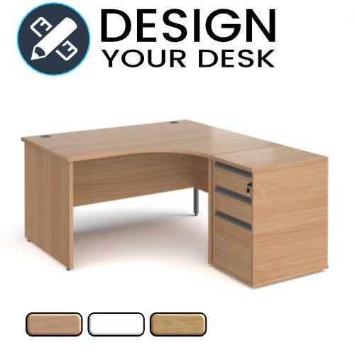 Design Your Economy Radial Desk with Panel End Leg