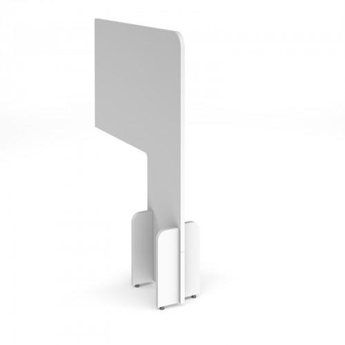 Desk division floor standing screens - MFC White