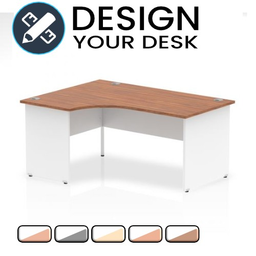 Design Your Impulse Two Tone Radial Desk with Panel End Leg
