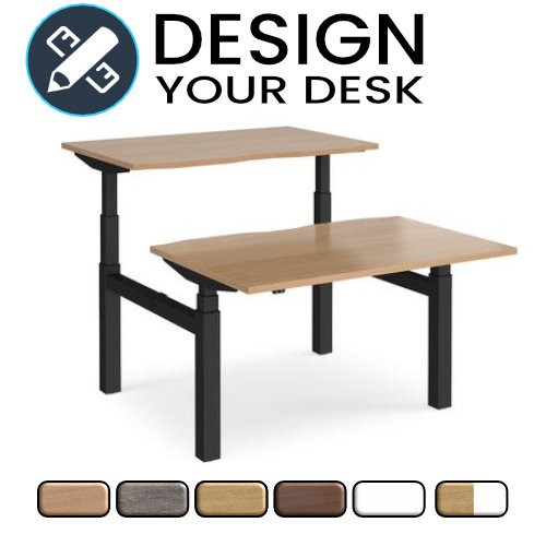Design Your Sit Stand Back to Back Desks with Twin Motor Leg Frame