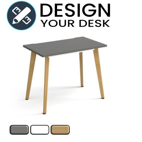 Design Your Giza Straight Desk with Wooden Legs