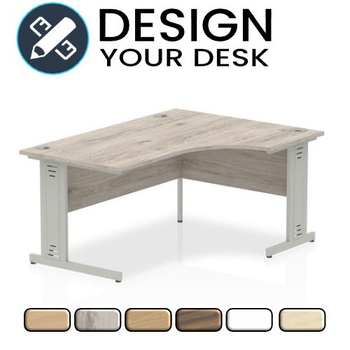 Design Your Impulse Radial Desk with Cable Managed Cantilever Leg Frame