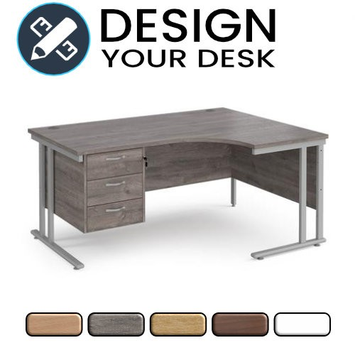 Design Your Radial Desk with Cantilever Leg Frame