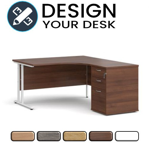 Design Your Radial Desk with Cantilever Leg with Desk High Pedestal