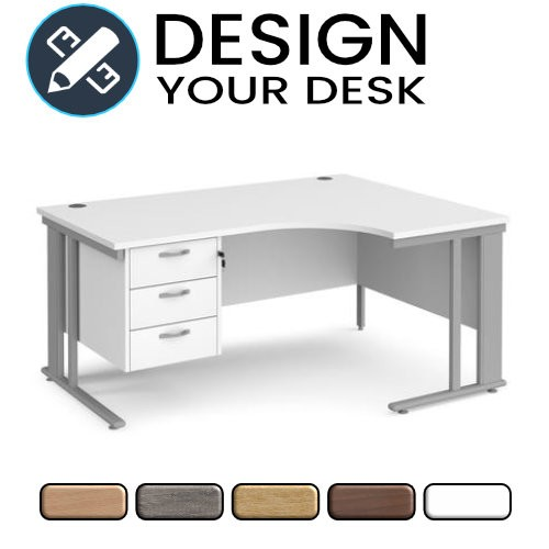 Design Your Radial Desk with Cable Managed Cantilever Leg Frame