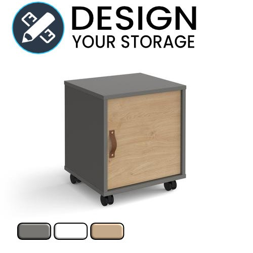 Design Your Cube Mobile Pedestal with Cupboard Door