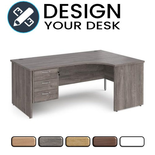 Design Your Radial Desk with Panel End Leg