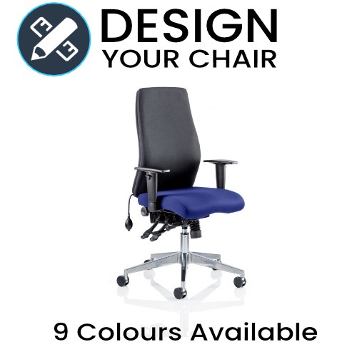 Design Your Onyx Posture Chair with Black Back and Coloured Seat