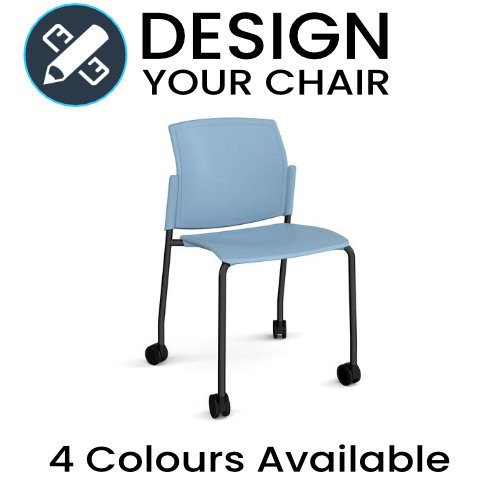 Design Your Santana Meeting / Visitors Chair with Wheels