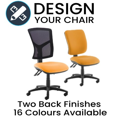 Design Your Senza Chair with Either Mesh or Fabric and Coloured Seat
