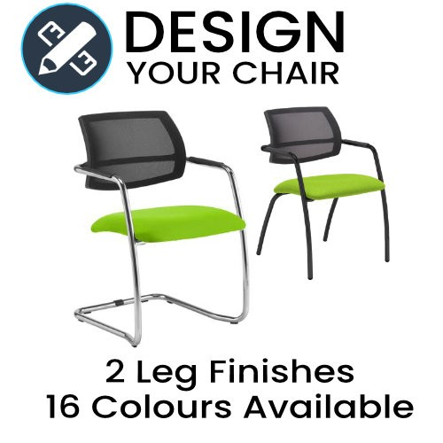 Design Your Tuba Mesh Back Meeting / Visitors Chair