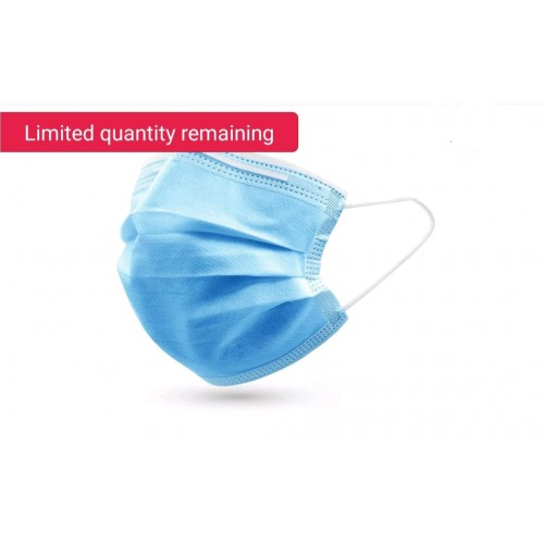 50x Disposable Face Masks with Ear Loop