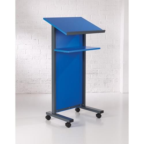 Coloured Panel Front Lectern - Blue