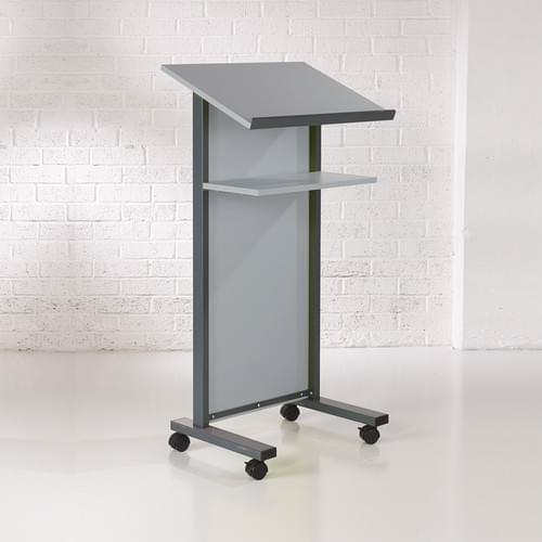 Coloured Panel Front Lectern - Grey