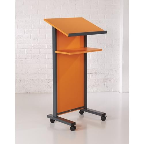 Coloured Panel Front Lectern - Orange