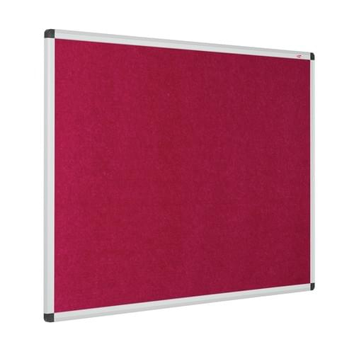 Eco-Colour Aluminium Framed Resist-a-Flame Boards - 900 x 600mm - Raspberry