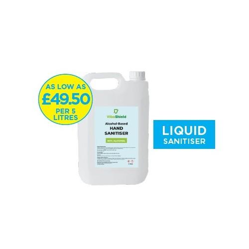 Bulk Sanitiser Liquid 5 litres (Pack of 2)