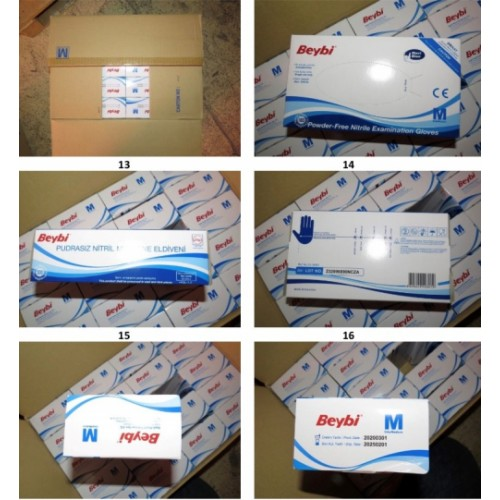 Nitrile Powder Free Gloves – Large  Box 100