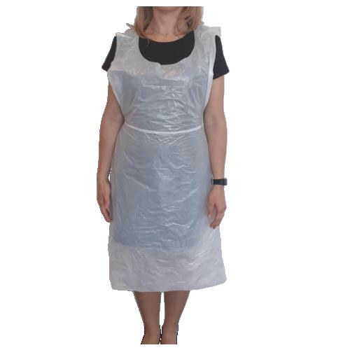 White oxi degradable NHS spec disposable aprons - BRC certified Box 600