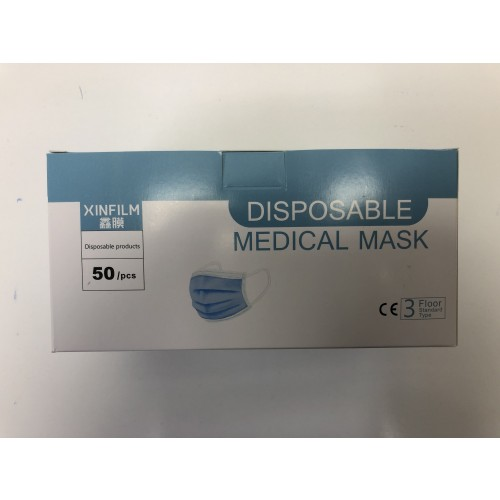 3 ply surgical Face Mask Type II Disposable Box of 50