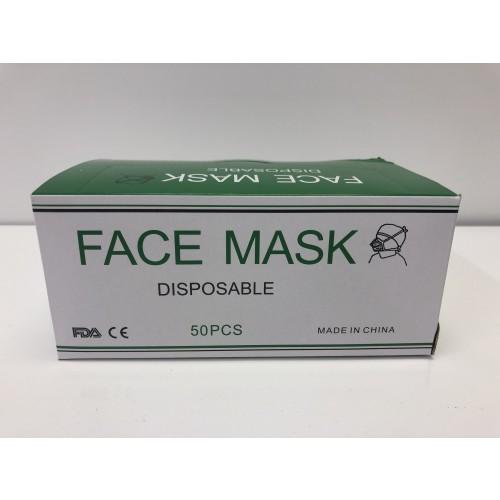 3 ply Disposable Civilian Face Mask Pk 50
