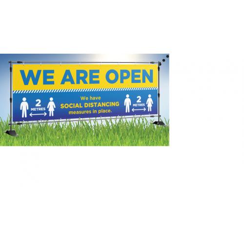 We Are Open Outdoor Banner