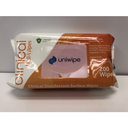 Anti-Bacterial Wipes Pack 200