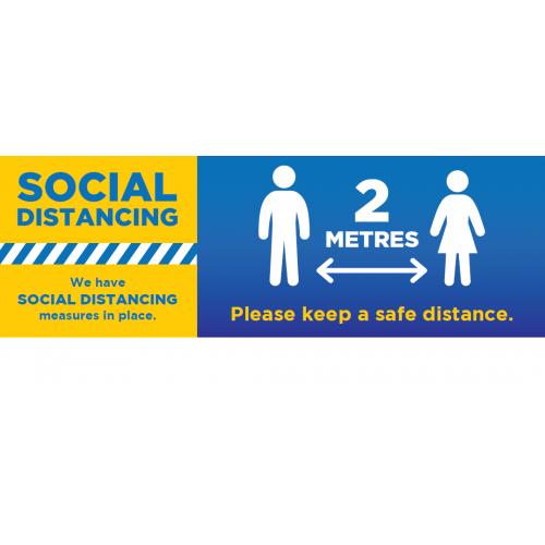 Social Distancing Outdoor Banner