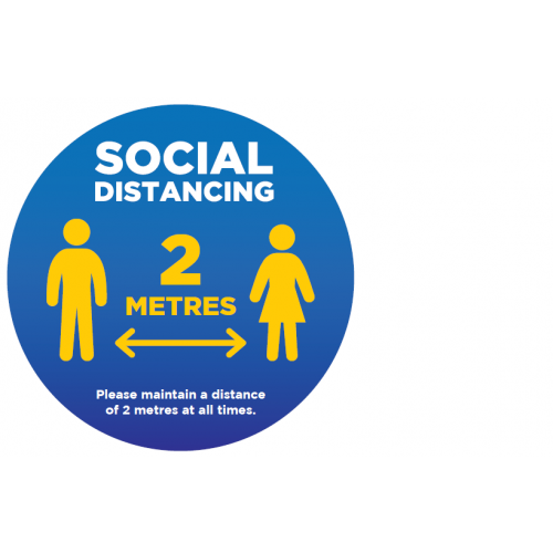 Social Distancing Floor Stickers Pack of 12