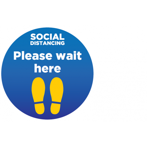 Wait Here Floor Stickers pack of 12