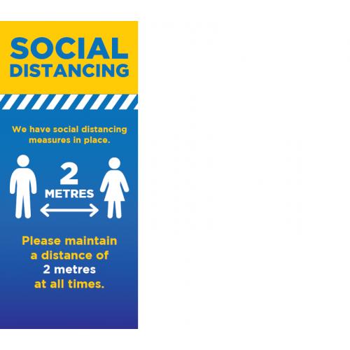 Social Distancing Roller Banner (2 metres sign)