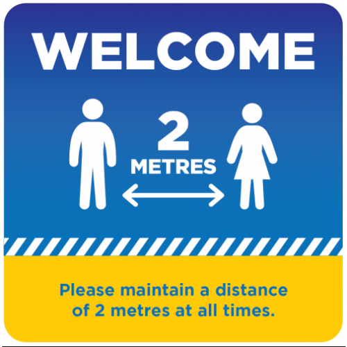 Social Distancing Signage 500x500mm Pack of 5