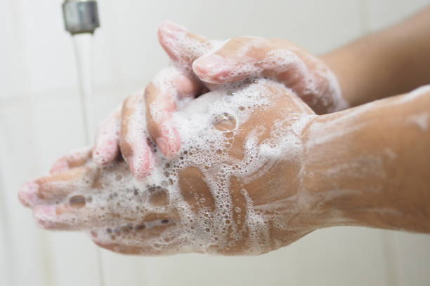 Cleaning hands