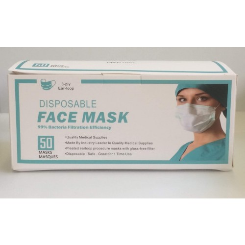 Disposable Face Mask - Pack of 50