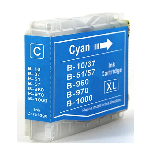 EasyOffice Brother LC1000 LC970 Cyan Compatible Ink Cartridge