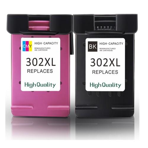 EasyOffice HP 302XL (F6U68AE/F6U67AE) - High Capacity Black & Colour Ink Cartridge- 2 Pack