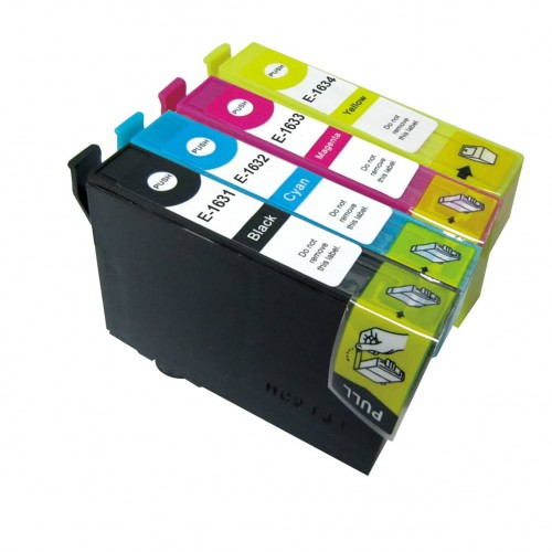 EasyOffice Epson T1636/16XL (T1631/1632/1633/1634) Multi-Pack Compatible Ink Cartridges