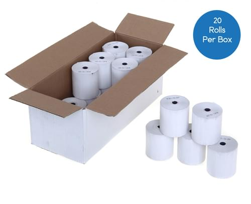 44mm x 70mm Thermal Till Roll White - Box of 20