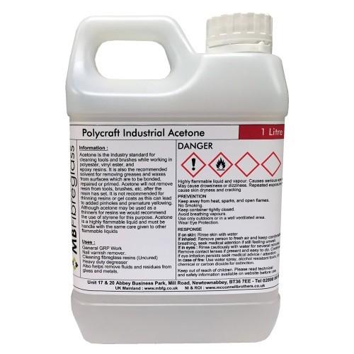 1 Litre Industrial Grade Acetone