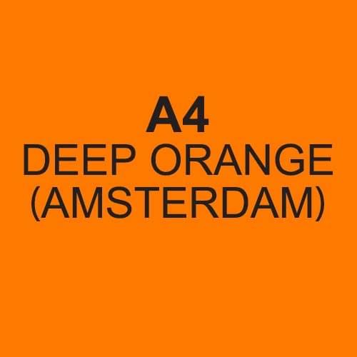 Image Coloraction Amsterdam FSC Mix Credit A4 210x297 mm 80Gm2 Deep Orange Pack of 500