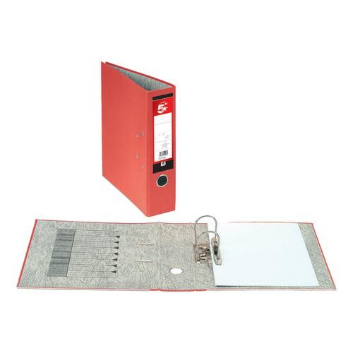*SINGLE* 5 Star Office Lever Arch File Fcap Red