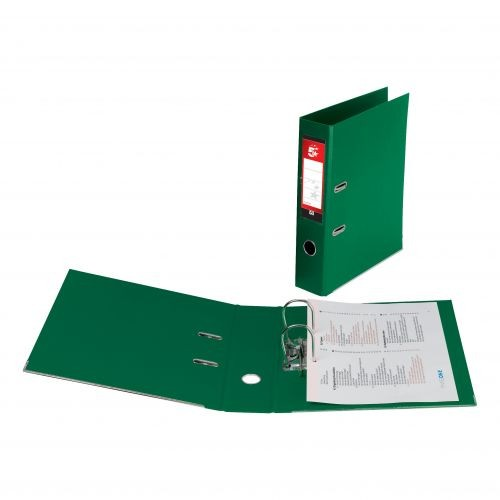 *SINGLE* 5 Star Office Lever Arch File Polypropylene Capacity 70mm A4 Green