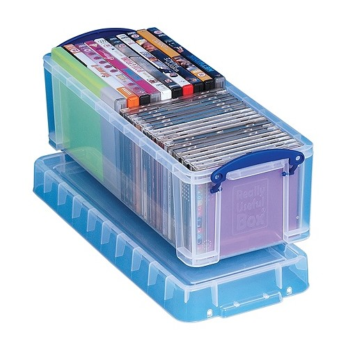 Really Useful 6.5 Litre Box Clear 6.5C (W180 x D430 x H160 mm)