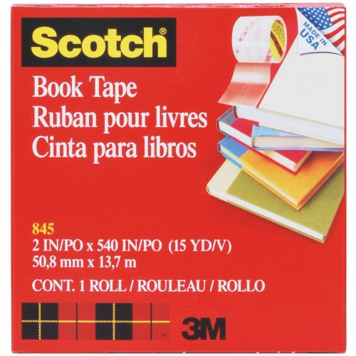 Scotch Book Repair Tape 50.8mmx13.7m Transparent Ref 845 *USE FOR RADIOS*