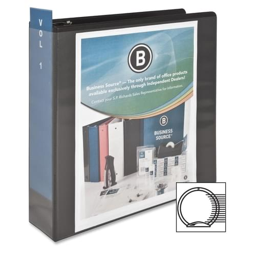 *US IMPORT* Business Source 3'' 3 Ring Binder - Approx 460 Pages