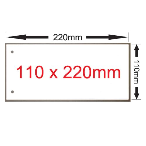 X 250 WHITE ACCLAIM PAPER CARD 110 X 220 PUNCHED
