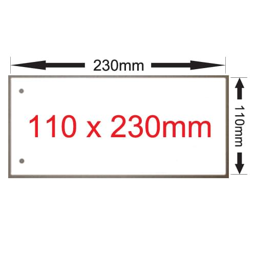 x 250 Excidion 335gsm White 230mm x 110mm 2 Hole